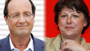 François Hollande et Martine Aubry/Image d'archives