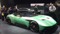 L'Aston Martin Vulcan, voiture de circuit au moteur V12 7,0 litres de plus de 800 chevaux dévoilée au Salon de Genève le 3 mars 2015