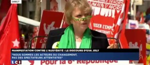 Manifestation contre l&#039;austrit : le discours d&#039;Eva Joly