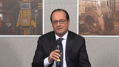 François Hollande à Florange, 24/11/14