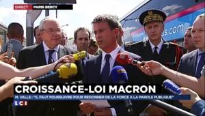 """Valls réaffirme la volonté du gouvernement de """"baisser la fiscalité des ménages"""""""