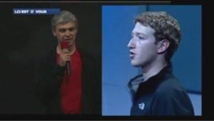 Larry Page (Google) et Mark Zuckerberg (Facebook) dans la tourmente après les révélation sur le programme PRISM.