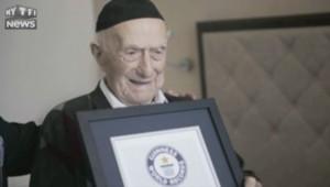 Le nouveau doyen du monde, né en 1903, est un rescapé d'Auschwitz