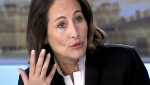 Ségolène Royal, le 2 mai 2007, lors du débat télévisé contre Nicolas Sarkozy.