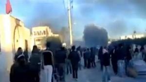Agitation sociale en Tunisie : images des protestataires diffusée sur internet (janvier 2011)