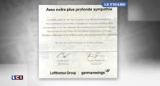 """Crash de l'A320 : Lufthansa publie ses condoléances dans """"Le Figaro"""""""