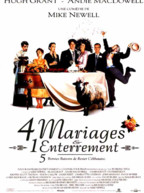 Affiche du film Quatre mariages et un enterrement