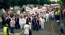 Le 20 heures du 25 octobre 2014 : Manifestation �a Ch�e contre la fermeture d%u2019une usine - 222.463