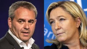 Xavier Betrand et Marine Le Pen