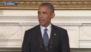 Barack Obama a annoncé avoir autorisé des frappes ciblées en Irak, le 7 août 2014.