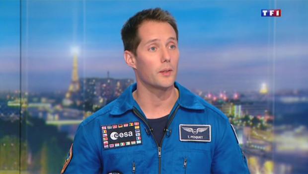 L'astronaute français Thomas Pesquet sur TF1 le 12 novembre 2015