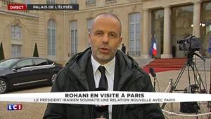 """Rohani en visite à Paris : """"Des accords pour des échanges entre étudiants et pour l'économie"""""""