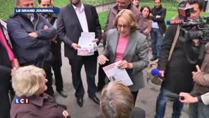 Lebranchu fait du porte-à-porte pour valoriser le bilan de Hollande