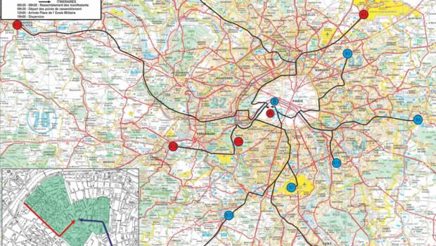 L'intersyndicale des taxis a appelé à une journée de mobilisation nationale jeudi 10 janvier 2013. En région parisienne, des cortèges devraient partir de 11 lieux vers la capitale.