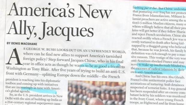chirac newsweek