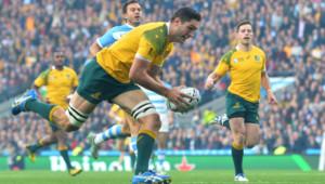 Mondial de rugby. Australie-Argentine : essai de Rob Simmons (25/10)
