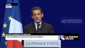 """Sarkozy : """"Quand on accueille trop, on accueille mal"""""""