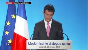 """Baisse du chômage : pour Valls, """"c'est le moment d'investir et d'embaucher"""""""