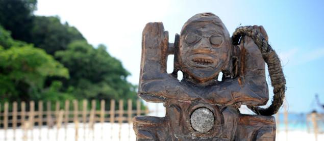Le totem d'immunité du jeu d'aventures Koh-Lanta.