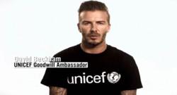 David Beckham dans un message vidéo de l'UNICEF