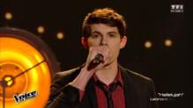 Lilian pendant la finale de The Voice