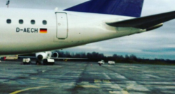 Photo Instagram de l'avion allemand D-AECH