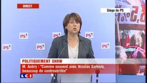 """Martine Aubry : """"hésitant et déboussolé"""""""