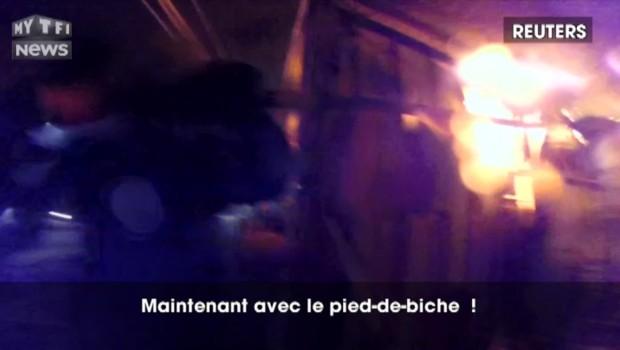 Caméra embarquée, une femme sauvée in extremis d'un incendie au Chili