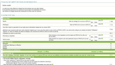 Impôts : déclaration en ligne 2015