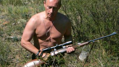 Vladimir Poutine à la chasse, en 2007