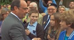 François Hollande en déplacement dans l'Aisne à l'occasion de la rentrée scolaire le 1er septembre 2015