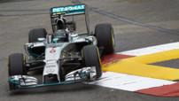 Nico Rosberg (Mercedes) aux essais du GP F1 Monaco le 22 mai 2014