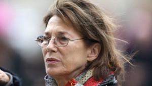 Jane Birkin aux obsèques de Patrice Chéreau à l'église Saint-Sulpice à Paris le 16 octobre 2013