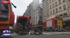 Spectaculaire incendie dans un immeuble du quartier Saint-Michel à Paris