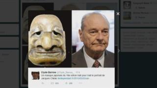 Un masque japonais du XVIIIe siècle ressemble étrangement à Chirac