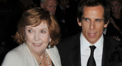 Anne Meara et Ben Stiller en 2008 à New York