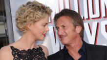 Charlize Theron et Sean Penn à la projection du film A Million Ways to Die in the West à Los Angeles le 16 mai 2014