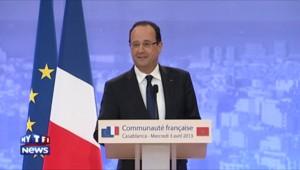 François Hollande au Maroc, le 3 avril 2013.