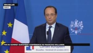 François Hollande lors du sommet européen à Bruxelles