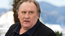 Gérard Depardieu lors du photo-call à Cannes le 22 mai 2015