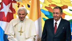 Le pape Benoît XVI a été reçu par Raul Castro, le 27.03.2011 à La Havane à Cuba