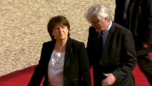 Martine Aubry à l'Elysée, le mardi 15 mai 2012.