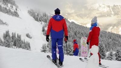 Des skieurs sur les pistes de Courchevel le 25 novembre 2015