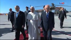 Le 20 heures du 25 mai 2014 : Le pape Fran�s arrive ��salem - 474.702
