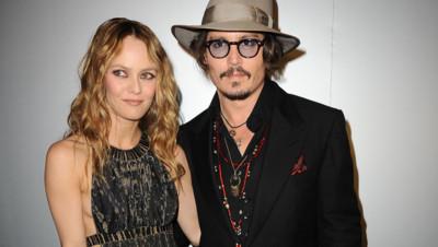 Vanessa Paradis avec Johnny Depp lors d'une soirée du Festival de Cannes en 2010.