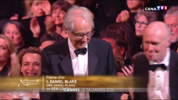 """Ken Loach remporte la palme d'or à Cannes pour """"Moi, Daniel Blake"""""""