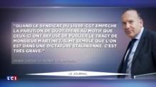 """Pierre Gataz : """"Le sigle CGT est égal à chômage"""""""
