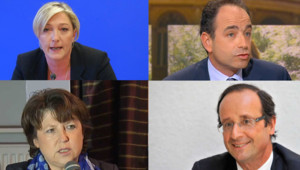Aubry Hollande Copé Le Pen