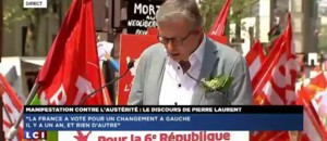 Manifestation contre l&#039;austrit : le discours de Pierre Laurent