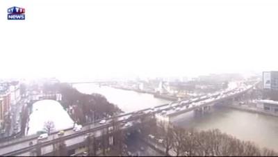 Neige à Paris : découvrez les images depuis le toit de TF1
